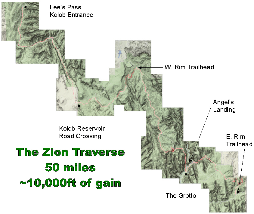 Zion Traverse | Jared Campbell's Blog on mundelein road map, beaver island road map, north aurora road map, coldwater road map, richmond road map, white mountains road map, central california coast road map, nauvoo road map, sterling road map, goblin valley road map, napier road map, canyonlands road map, cary road map, lansing road map, wadsworth road map, park city road map, bloomington road map, crystal lake road map, north shore road map, kings canyon road map,
