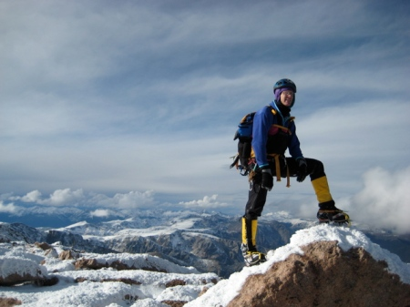 On the summit of Longs in November