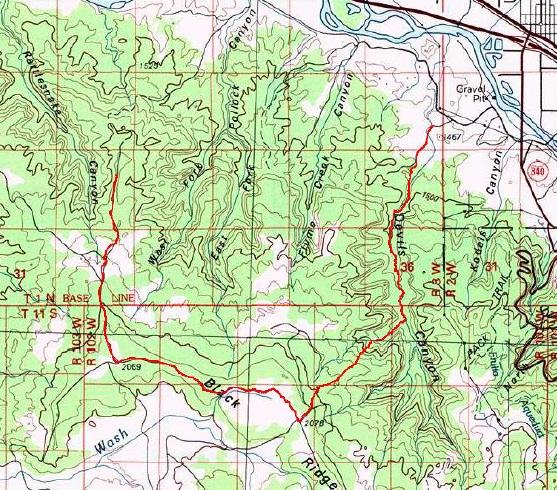 Rattlesnakes In Colorado Map.Upper Loop Rattlesnake Arches Adventure Running